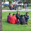 Središnji gradski Park u Bihaću je postao zona ilegalnih migranata koji čekaju na priliku kršenja hrvatskog zakona ilegalnog ulaska u Hrvatsku  (foto: Kvarnerski)
